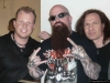 CHRIS and ROB with KERRY KING from SLAYER