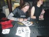 FELINE MELINDA'S CD Release Party, Gschnell Writing Autographs