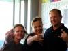ROB and CHRIS with CHRISTINE RABANSER from Radio Station SÜDTIROL 1 - South Tyrol - Italy